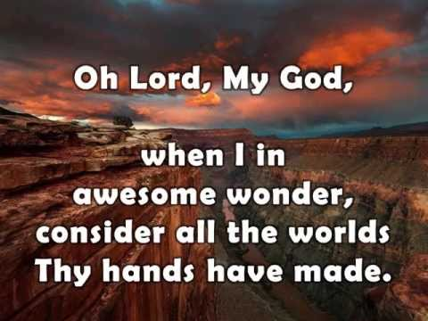 How Great Thou Art w/ lyrics By Alan Jackson