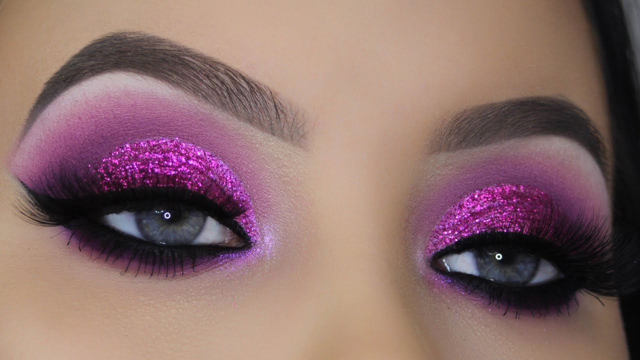 Classic Purple Glitter Makeup Tutorial Youtube