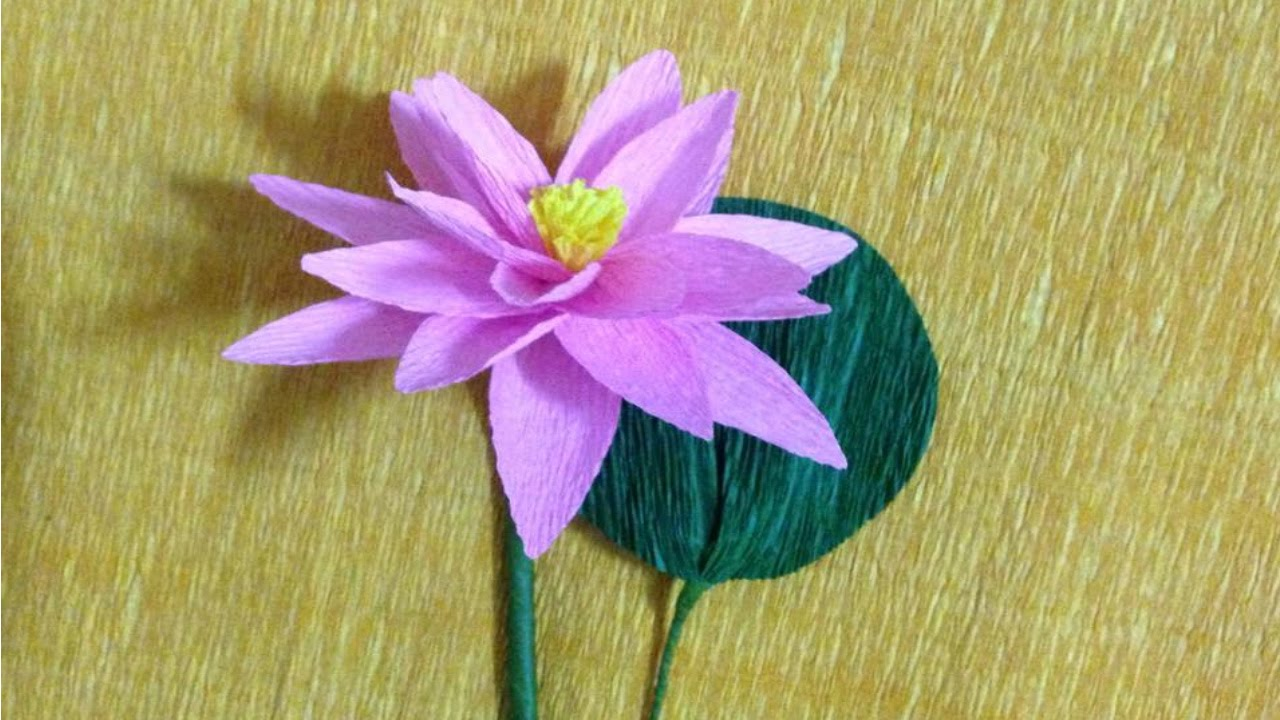 How to make lotus crepe paper flowers flower making of for How to make a lotus with paper