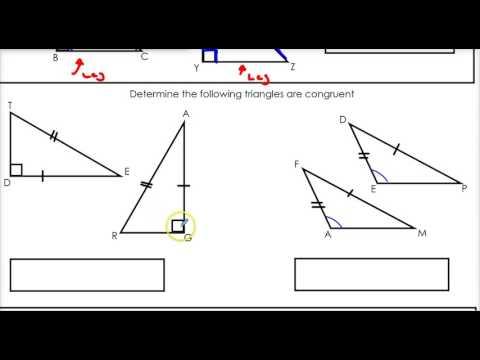 2.3  ASA, AAS and HL Congruence