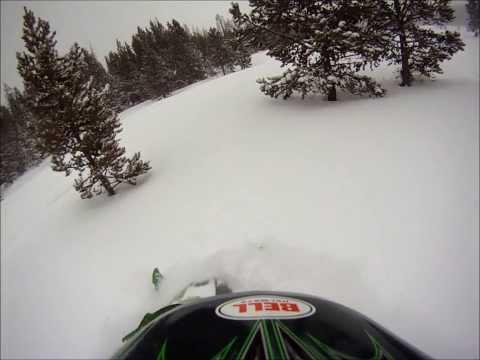 Snowy Mountain Range Snowmobiling 2014