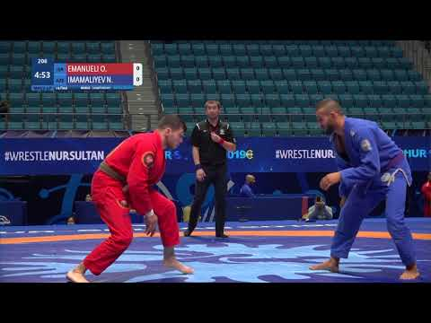 1/4 Men's GP Gi - 77 kg: O. EMANUELI (ISR) v. N. IMAMALIYEV (AZE)