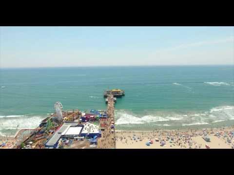 Santa Monica Pier and Venice Beach via Drone