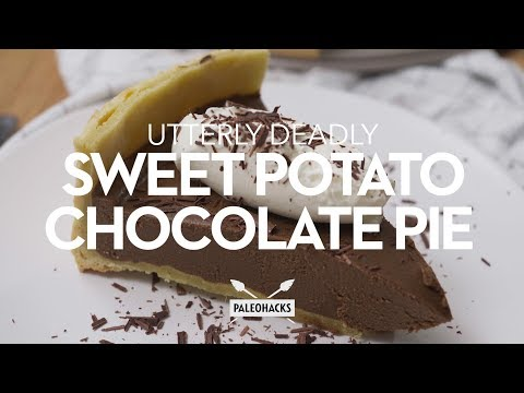 Utterly Deadly Sweet Potato Chocolate Pie
