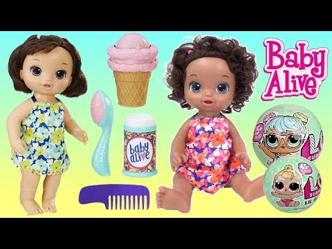 Baby Alive Magical Scoops Doll With Lol Surprise Dolls Lil