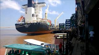 Riverfront on the Wharfs of Stabroek Market in Georgetown, Guyana