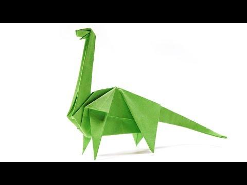 Origami Dinosaur Diplodocus - Paper Folding / Papier Falten / 종이접기 - Paper Crafts 1101 おりがみ