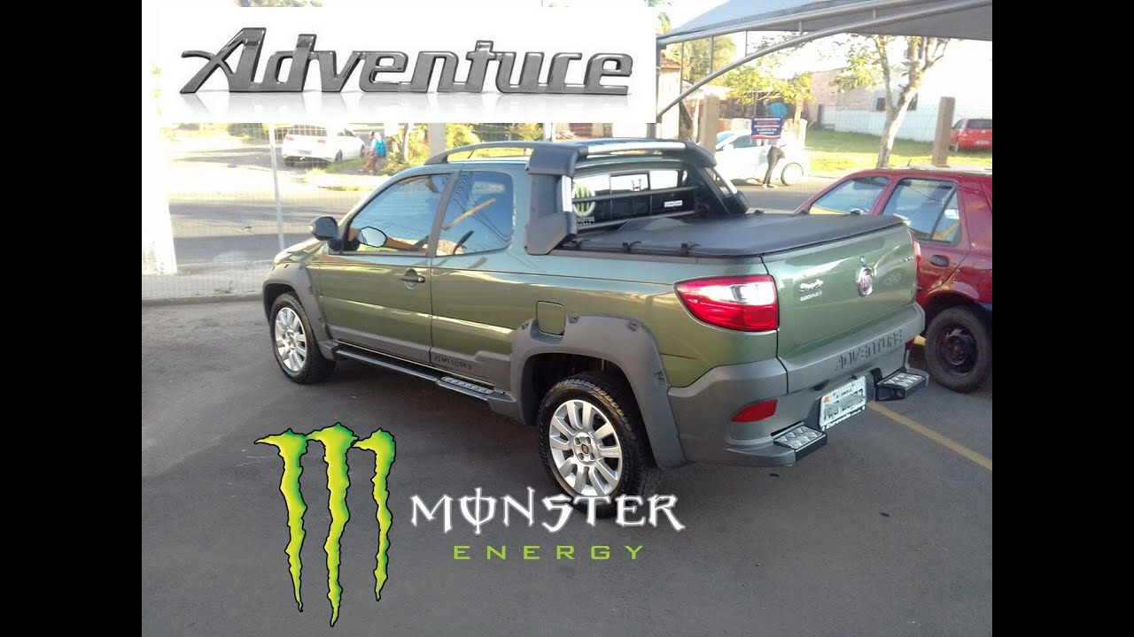 O MONSTRO SAINDO DA JAULA - FIAT STRADA ADVENTURE CD 2015