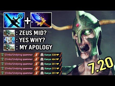 OMG New Imba Yasha and Kaya Undying Mid vs Zeus Crazy Fun Game by Babyknight 7.20 Dota 2