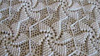 Crocheted Popcorn Pinwheel Bed Spread By Frances Johnson