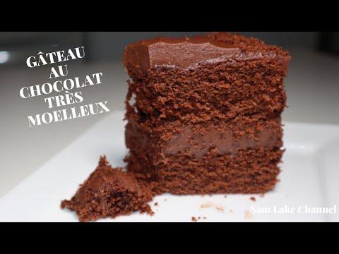 gÂteau-au-chocolat-trÈs-moelleux-|-ganache-au-chocolat-tres-simple-|-كيك-با-اشكلاط-سهل-و-لذيذ