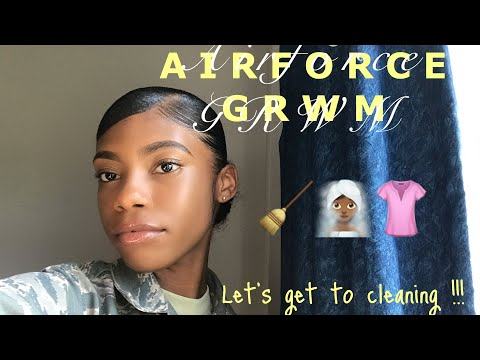 AIR FORCE GRWM | Daily routine and cleaning