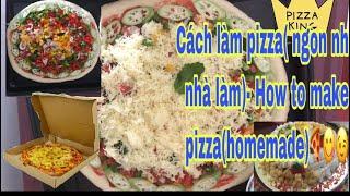 Vlog MaiK Sophie- Cách làm bánh pizza(ngon như nhà làm)- How to make pizza(homemade)