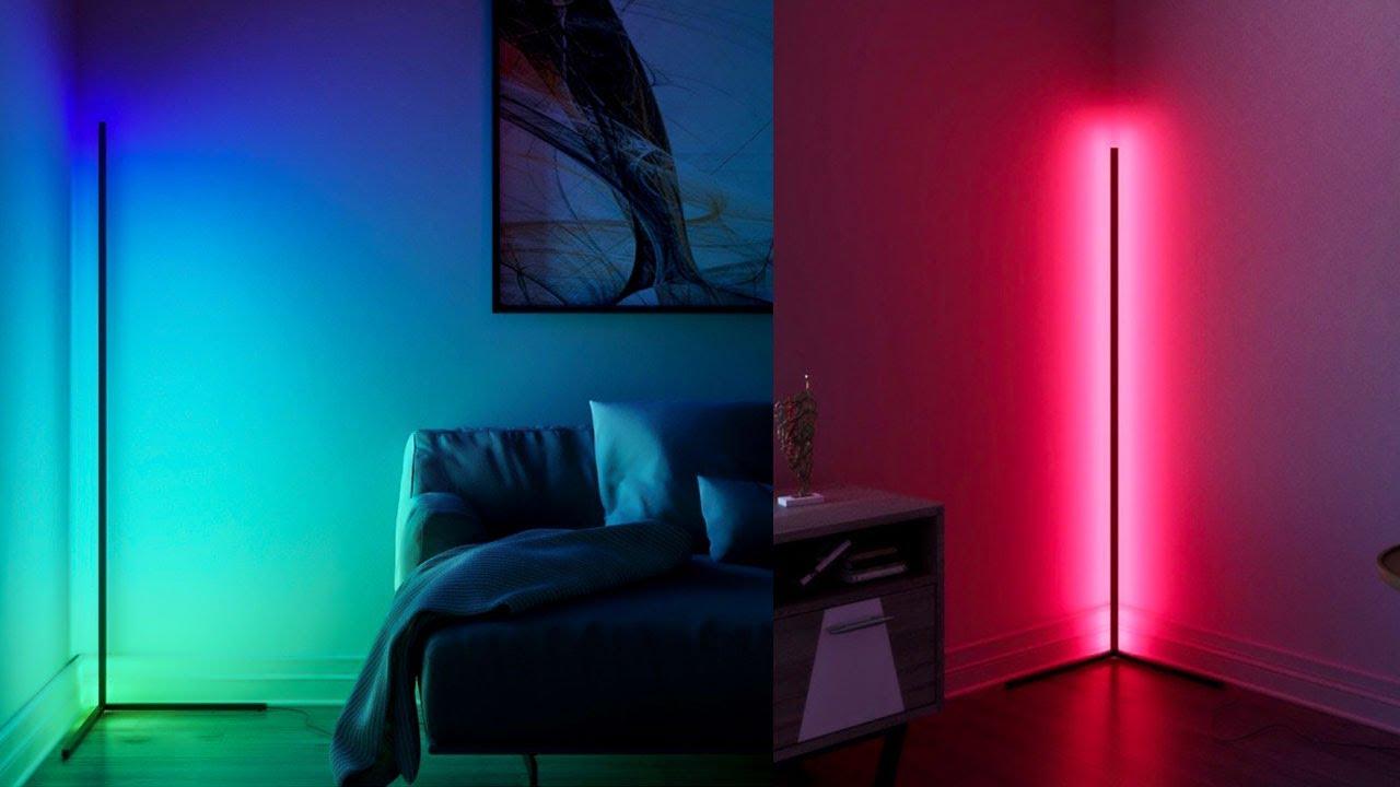 Multicolored Led Corner Floor Lamp, Minimalist Led Corner Floor Lamp Uk