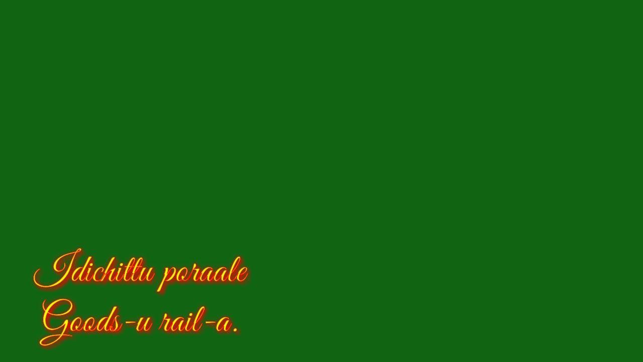 Kannala mayakuriye Sema kattaya song lyrics/Green screen video