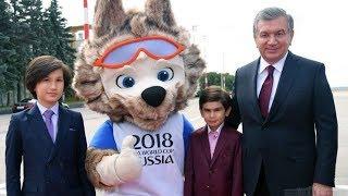 Мирзиёев Ўғли ва Набираси билан Москвага етиб келди.