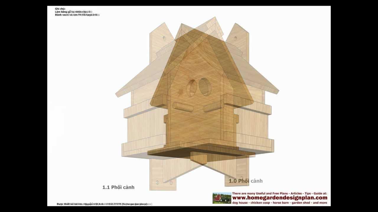BH100 - Bird House Plans Construction - Bird House Design - How To on