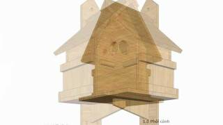 Bh100 - Bird House Plans Construction - Bird House Design - How To Build A Bird House