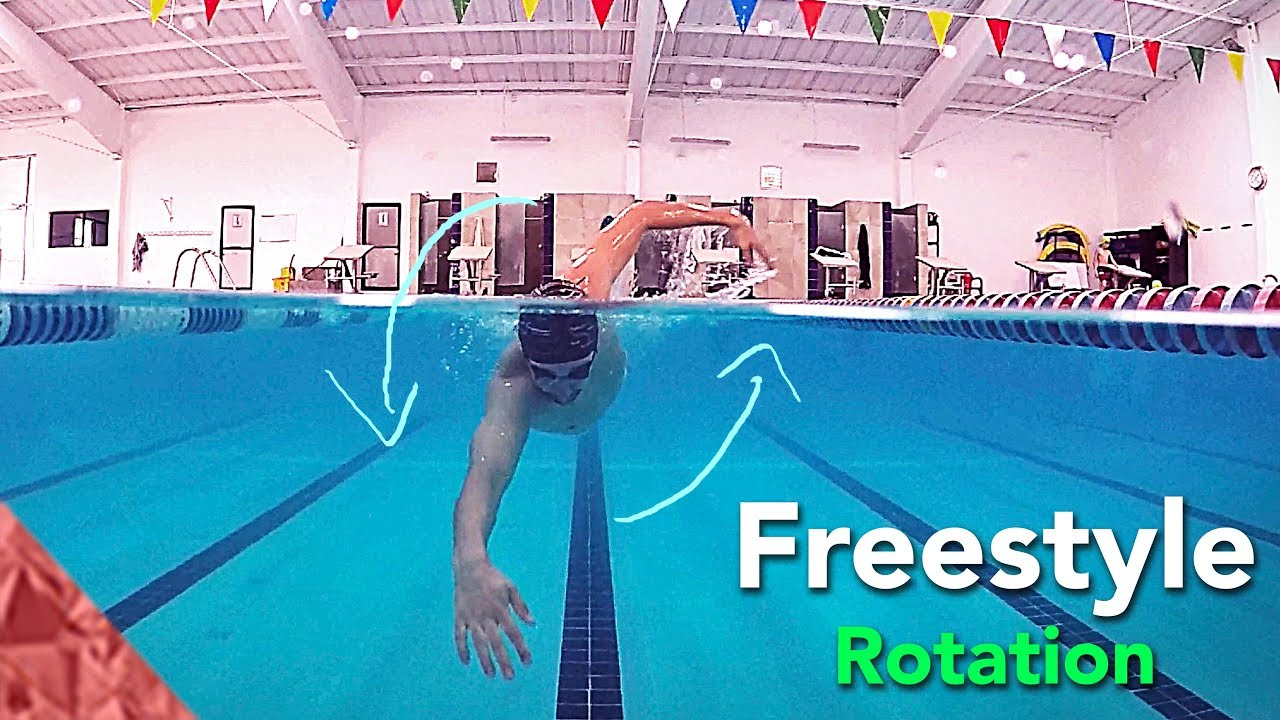 Swim smoother and breathe easier in freestyle with shoulder rotation