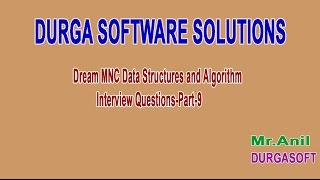 Dream MNC DS and Algorithm Interview Questions Part 9