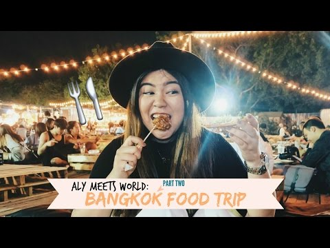 What I Ate in Bangkok (Art Box, Ratchada Train Market, Siam Center)  | ALY MEETS WORLD