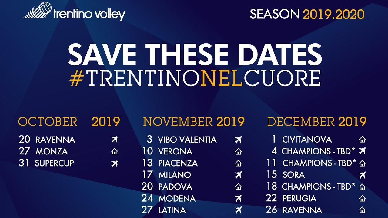 Mondiale Volley 2020 Calendario.Ufficializzato Il Calendario Di Superlega 2019 20 Esordio