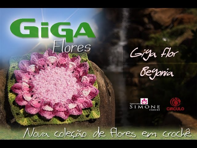 Giga Flor em crochê Begonia - Professora Simone Travel Video