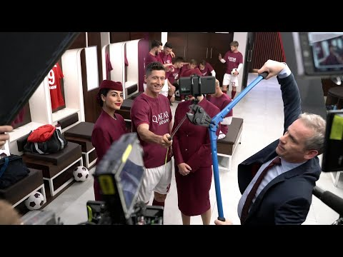 Inside the Qatar Airways football locker room