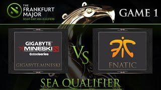 Dota2 : Mineski vs Fnatic Frankfurt Majors South-East Asia Qualifiers Game1 - DUNOO and LON