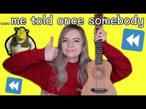 Singing All Star by Smash Mouth BACKWARDS