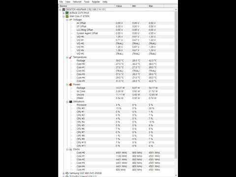 i7-8700k정품 클럭 자주움직임현상(CPUID Hardware Monitor PRO)