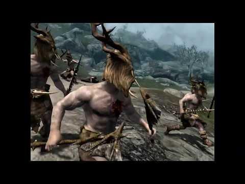 Skyrim Battles - Savos Aren & Neloth vs 10 Forsworn Briarhearts [2 Rounds]