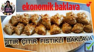 Çok Kolay  Beğenme Rekoru  Kıracak Fıstıklı Baklava Tarifi Sibelin mutfağı ile yemek tarifleri
