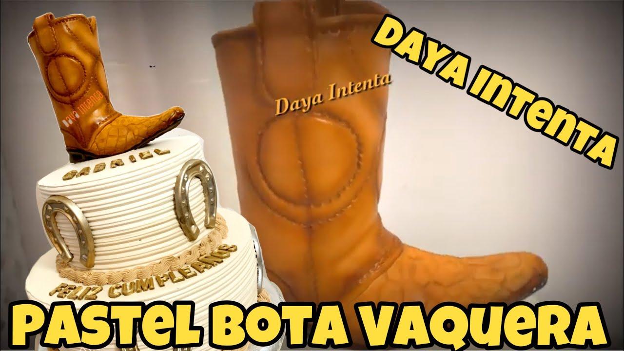 Decorado De Pastel Bota Vaquera Con Herraduras