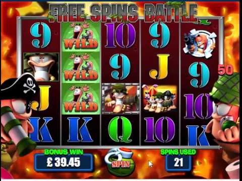 Incredible Worms Slot (as seen in the bookies, now online)
