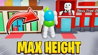 Becoming The Biggest On The Server MAX HEIGHT In Roblox Om Nom Simulator