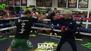 Tenshin Nasukawa Media Workout Ahead of Floyd Mayweather Fight at Rizin 14 - MMA Fighting