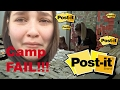 SISSY has a AWFUL time at CAMP!.. We POST-IT PRANK her ROOM! Toytatic Family VLOG