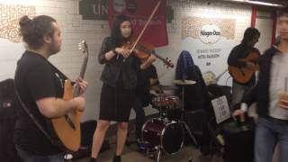 NYC Subway Musicians play great version of Game of Thrones Theme
