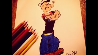 Drawing Popeye The Sailor Man | Speed Drawing