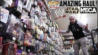 EPISODE 47 - TOY HUNTING FLEA MARKET FOR MARVEL LEGENDS/ STAR WARS BLACK SERIES AND WWE FIGS!!