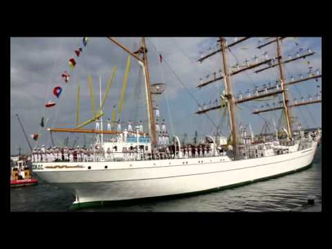 "Departure of the ""Cuauhtemoc"" of Mexico fom Varna"