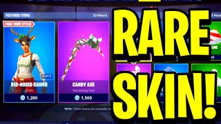 """RED NOSED RAIDER"" PEAU - CANDY AXE RETOUR! - Fortnite DAILY ITEM SHOP [18 décembre] Peau rares!"