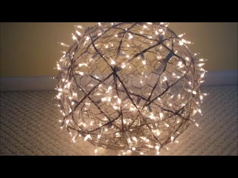 diy how to make giant lighted balls