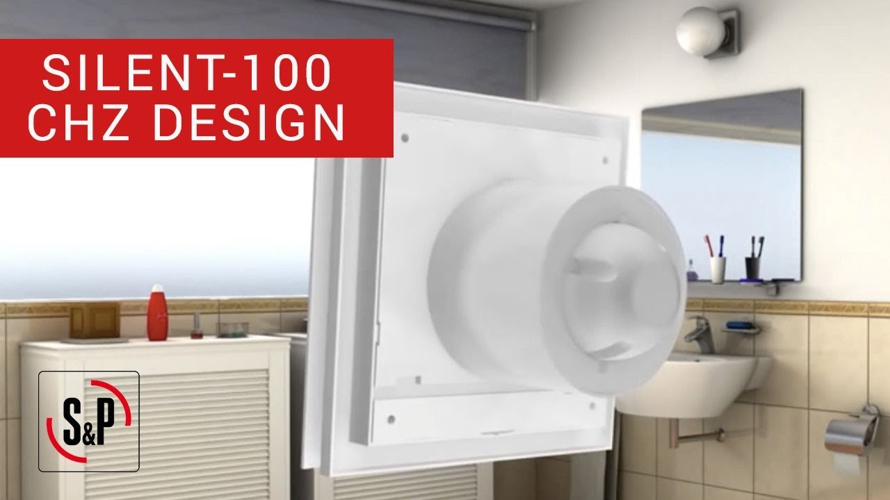 Extractor De Aire Para Baño Galaxia:SILENT-100 CHZ DESIGN S&P: Extractores de Baño (Instalación