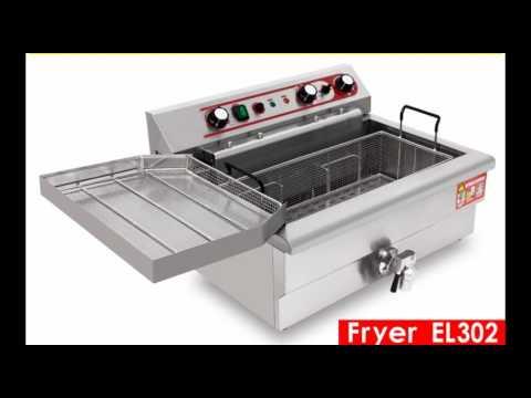 best stainless steel commercial electric deep fryer el302 donut deep fryer