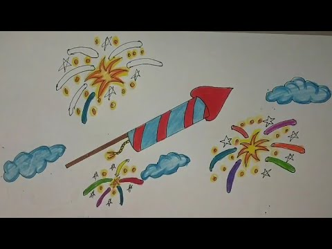 How to Draw Easy and Simple Diwali Drawing For Kids ...