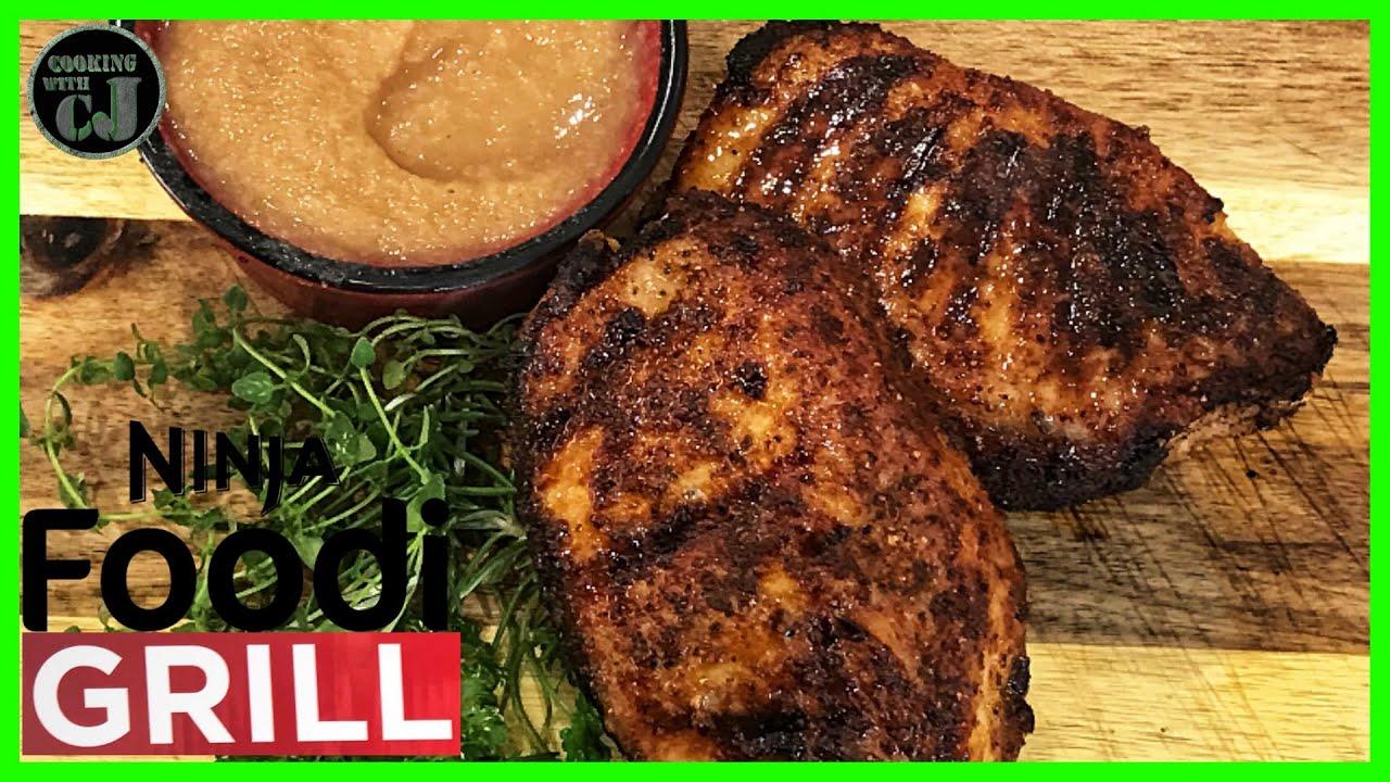 pork chop recipes ninja foodi grill GRILLED PORK CHOPS ON THE NINJA FOODI GRILL!  Ninja Foodi Grill Recipes