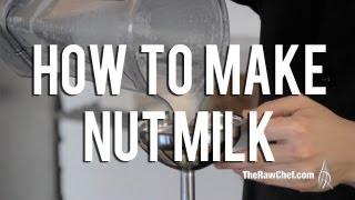 The Raw Chef Tv | Raw Food Recipe For Fresh Almond & Hazlenut Milk