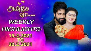 Anbe Vaa Weekly Highlights  15 02 2021 To 20 02 2021 | Anbe Vaa Recap Episodes